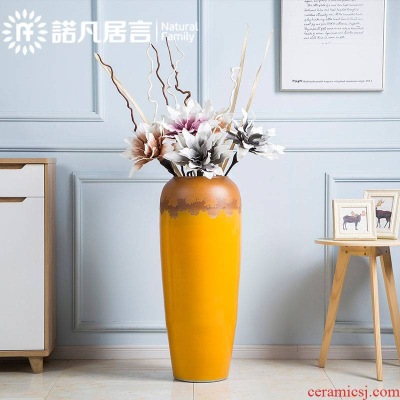 Ceramic vase landing dried flowers flower arrangement furnishing articles villa hotel, sitting room of Europe type restoring ancient ways of creative contracted fashion accessories