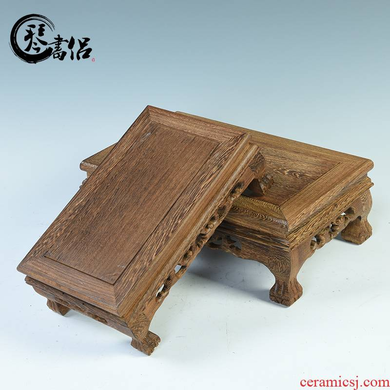 Wenge base rectangle mahogany base solid wooden furnishing articles base tank flowers miniascape base square