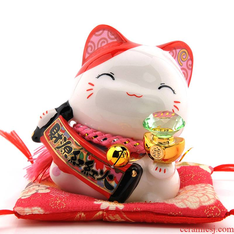 Stone workshop working quality goods mini peace lucky big head of household cat called peach blossom put and furnishing articles ceramic piggy bank
