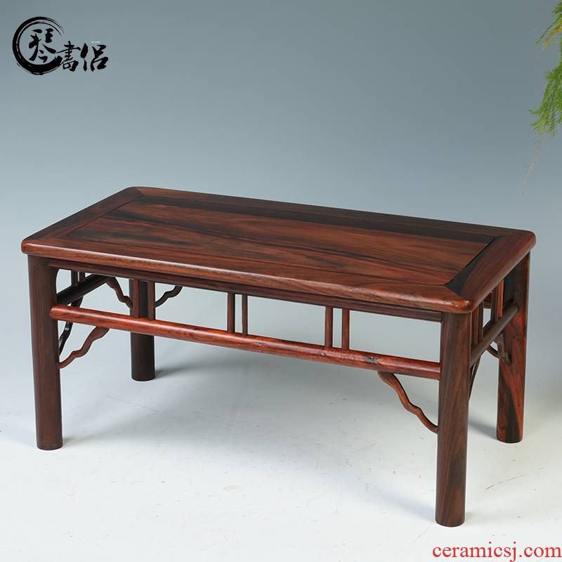 Pianology picking red rosewood carving base base of household adornment miniascape of rectangular solid wood base figure of Buddha furnishing articles