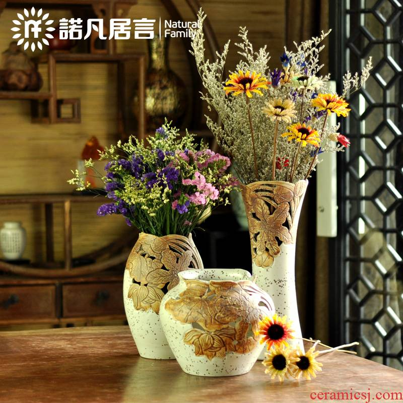 , every new product manual ceramic vases, dried flower simulation flowers restore ancient ways suit table furnishing articles household decoration