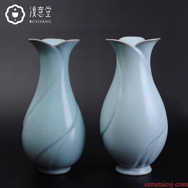 Your up craft ceramic vases, flower implement home sitting room adornment furnishing articles contracted style restoring ancient ways is blue bottles