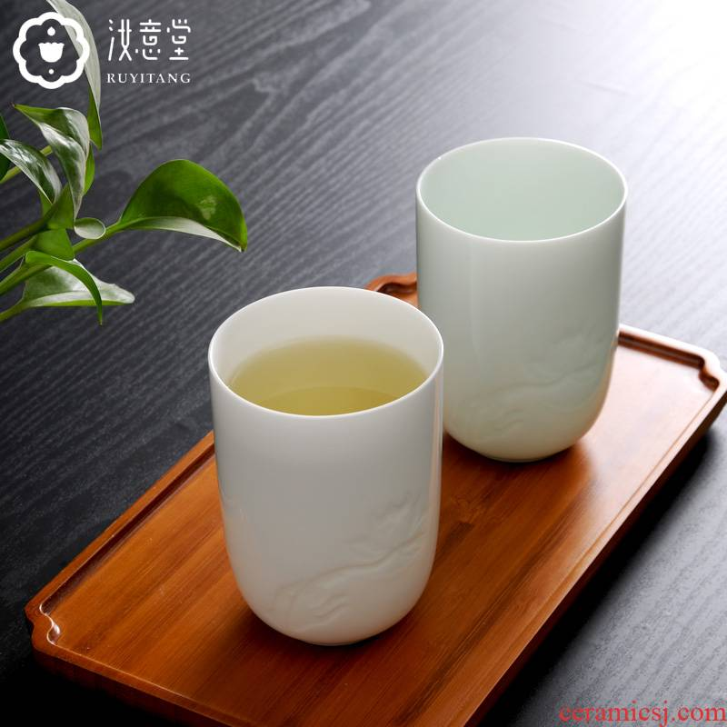 Jingdezhen ceramic cup cup home office ultimately responds cup tea cup personal cup contracted for a cup of tea
