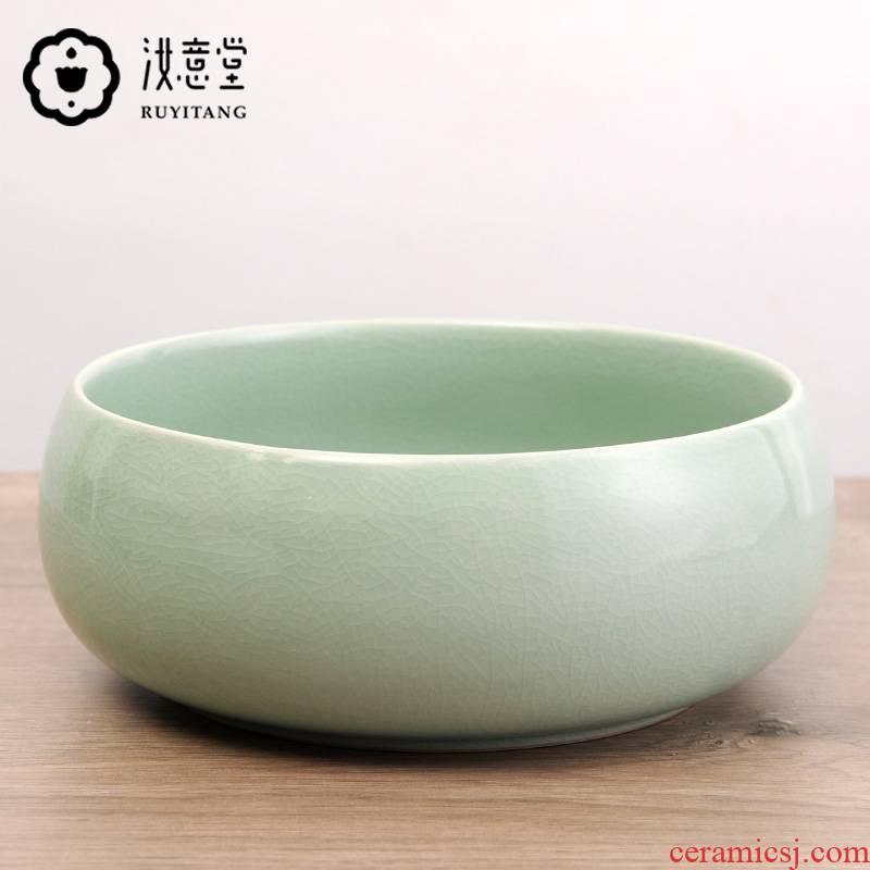 Your up porcelain tea to wash large ceramic water big yards kung fu tea tea accessories jar celadon water wash tea cup