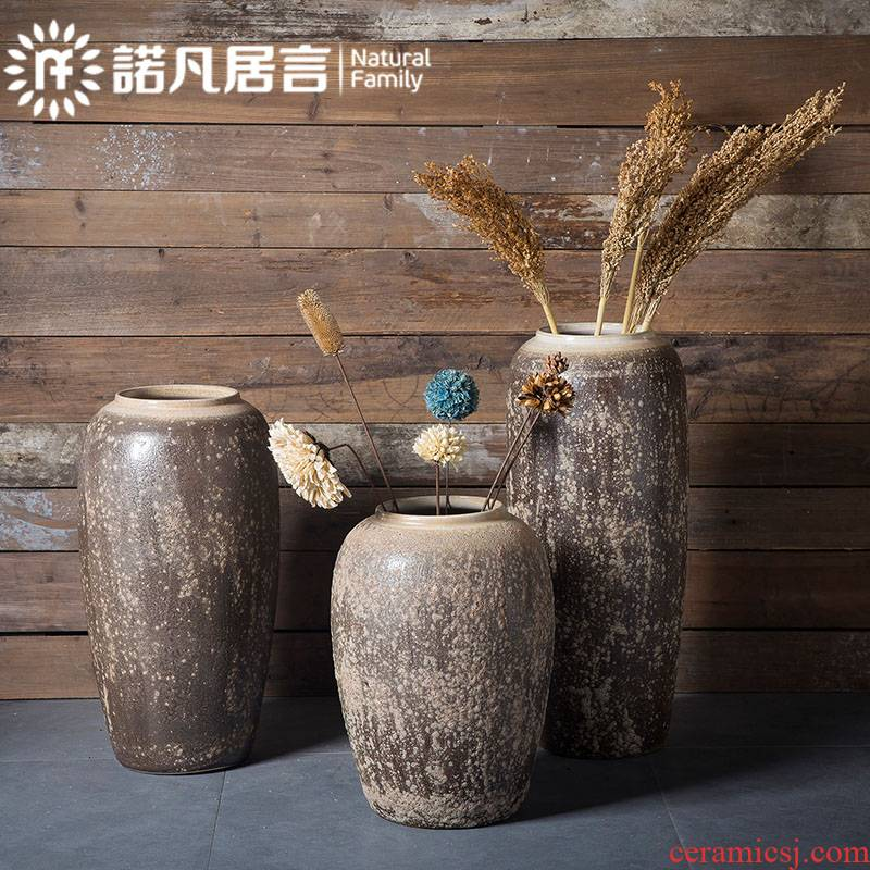 Jingdezhen manual thick some ceramic porcelain large vases, flower arranging hotel sitting room place the dried flower implement landing retro flower pot