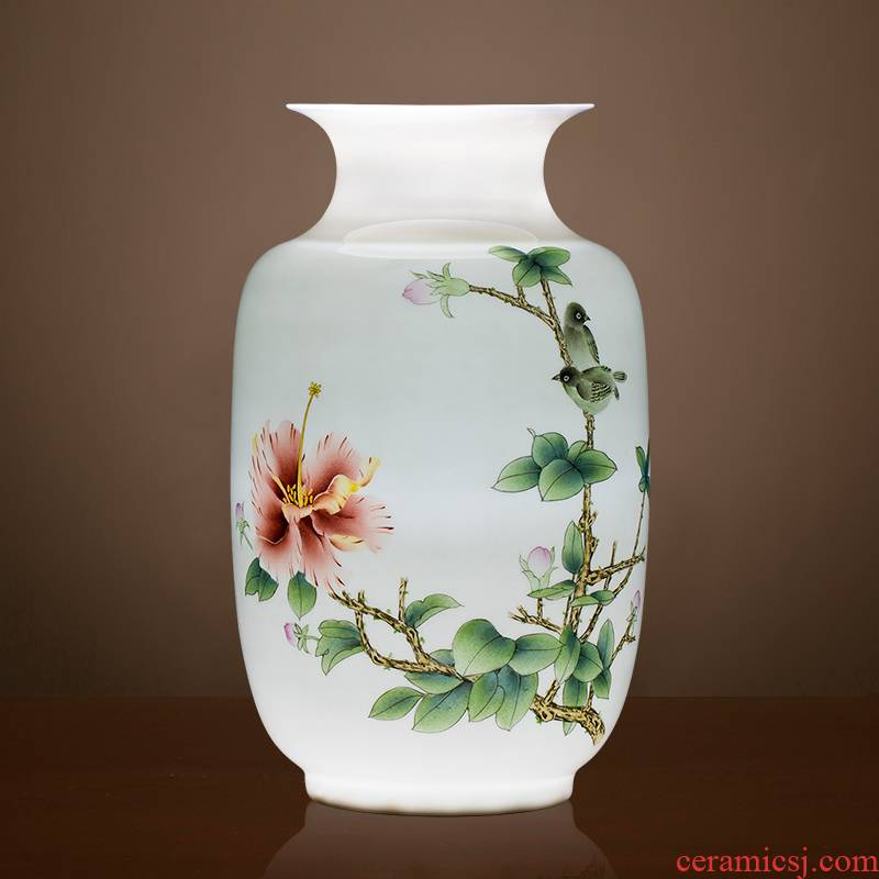Jingdezhen ceramics vase famous master hand - made home decoration of new Chinese style decoration in the sitting room porch place