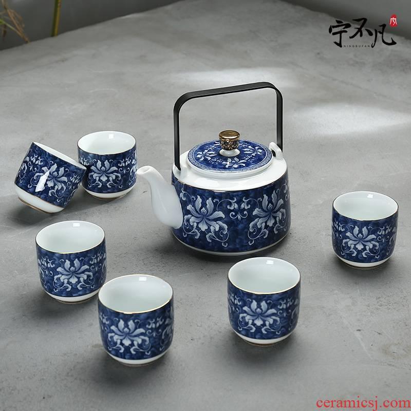 Rather extraordinary tea set household pot of belt filter ceramic teapot the icing on the cake cups to girder kung fu tea set