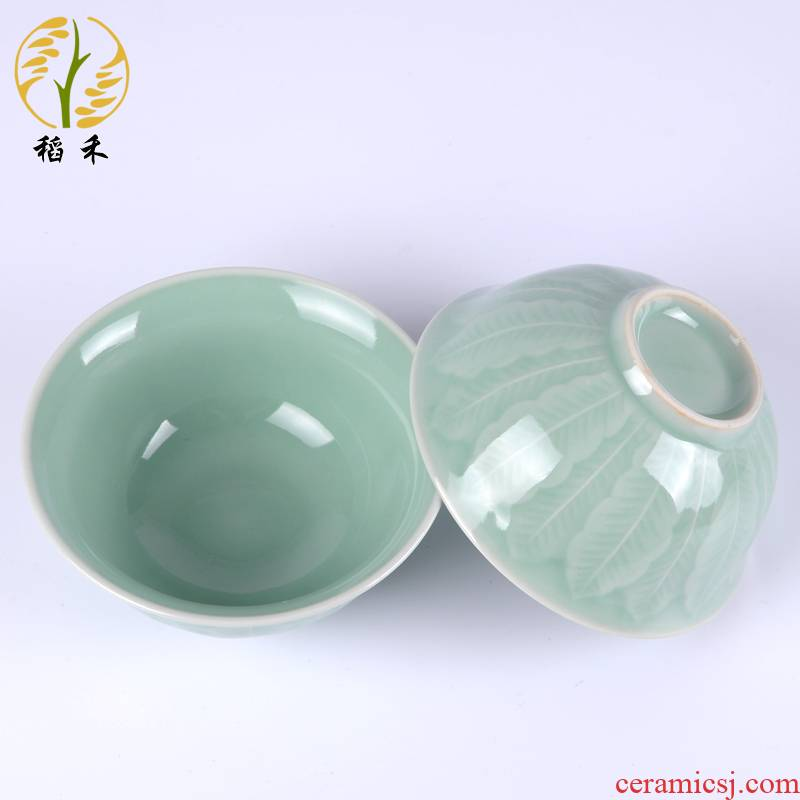 Your up celadon bowls of Chinese style is contracted and pure and fresh ceramic tableware porcelain bowls bowl rainbow such as bowl housewarming hotel home