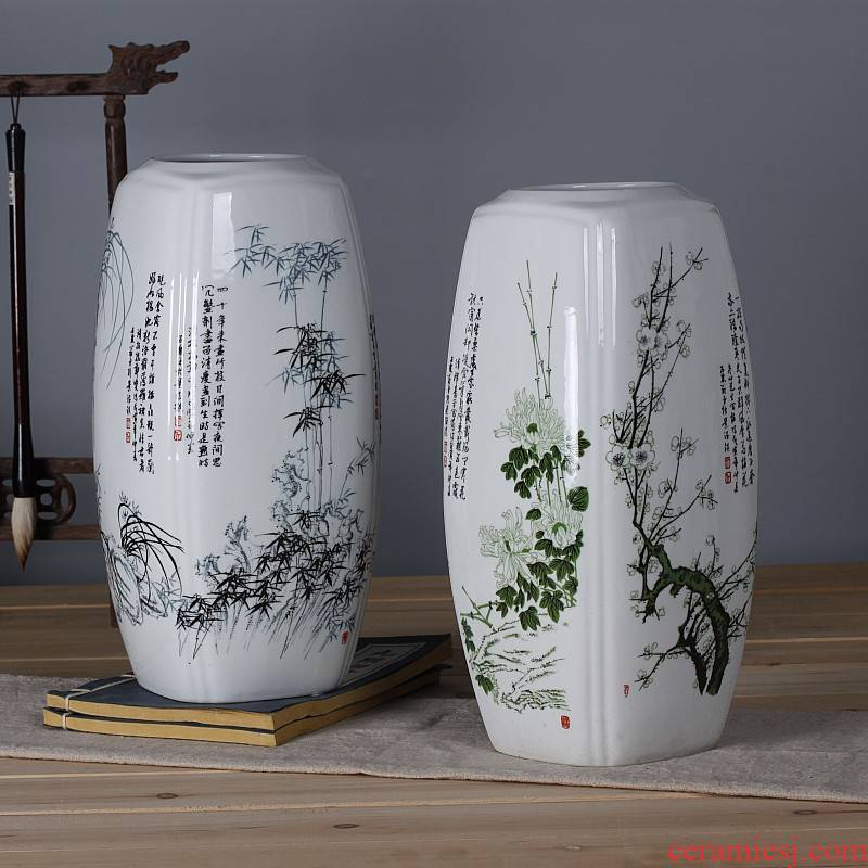 Jingdezhen ceramics creative name plum by bottles of I and contracted sitting room home furnishing articles