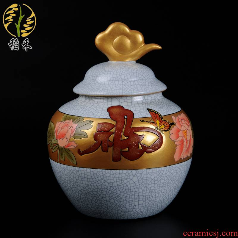 Clearance your up crafts home ceramic sitting room adornment furnishing articles storage tank is Chinese style restoring ancient ways of TV ark, decoration