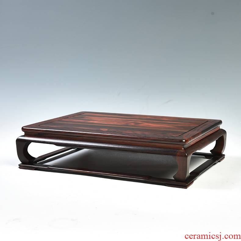 Red mahogany acid branch base tank base it flowers miniascape base solid wood carved wooden furnishing articles base rectangle