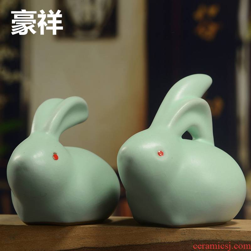Tea house auspicious fine furnishing articles your up spoil your porcelain Tea sets accessories ceramics play rabbit Tea to keep open piece of product