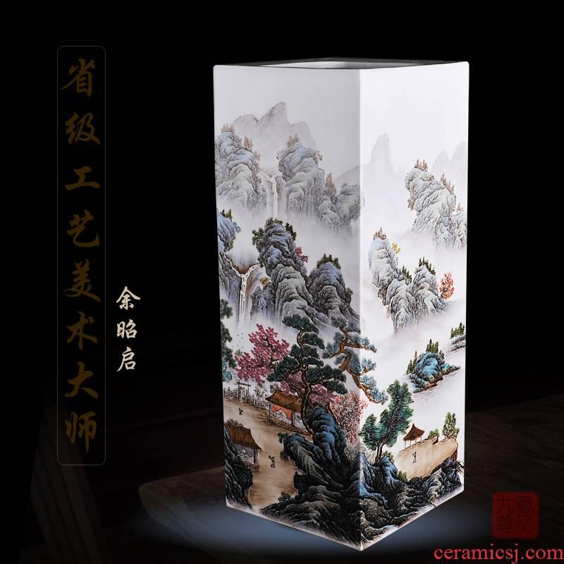 Jingdezhen ceramics Yu Zhao rev hand - made enamel inlay vase nymphs of living household handicraft furnishing articles