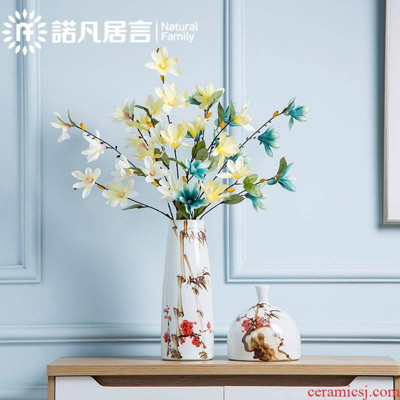 Mesa of jingdezhen ceramic vase furnishing articles sitting room hotel villa fashion flower arranging creative hand mei decoration decoration