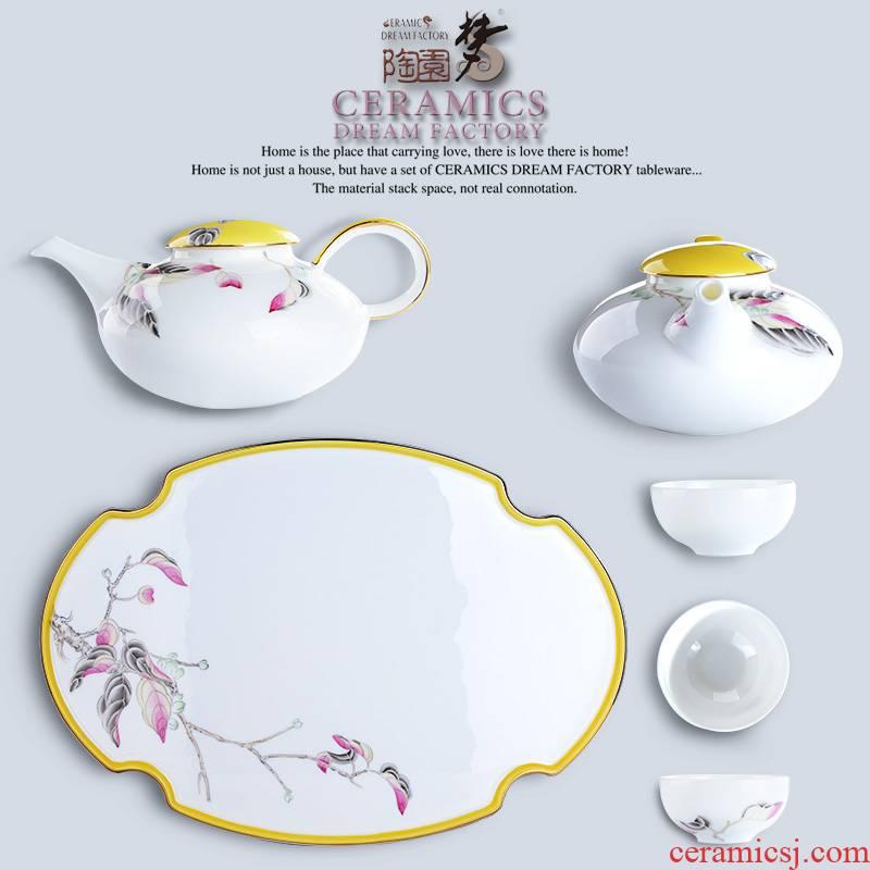 Kongfu tea sets tea tray was home sitting room high - grade ipads China Chinese style wedding gifts make tea modern ceramic cup