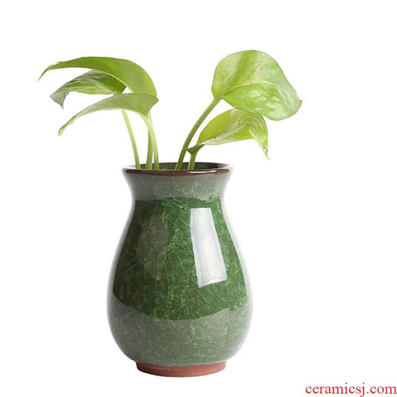 Water raise money plant ceramic vases, flower receptacle copper wire grass the plants flower pot hydroponic hyacinth flower implement indoor desktop furnishing articles