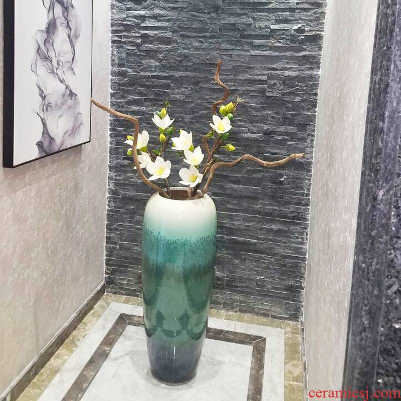 Hotel villa clubhouse large vases, ceramic big furnishing articles sitting room porch decoration decoration flower flower flower implement simulation