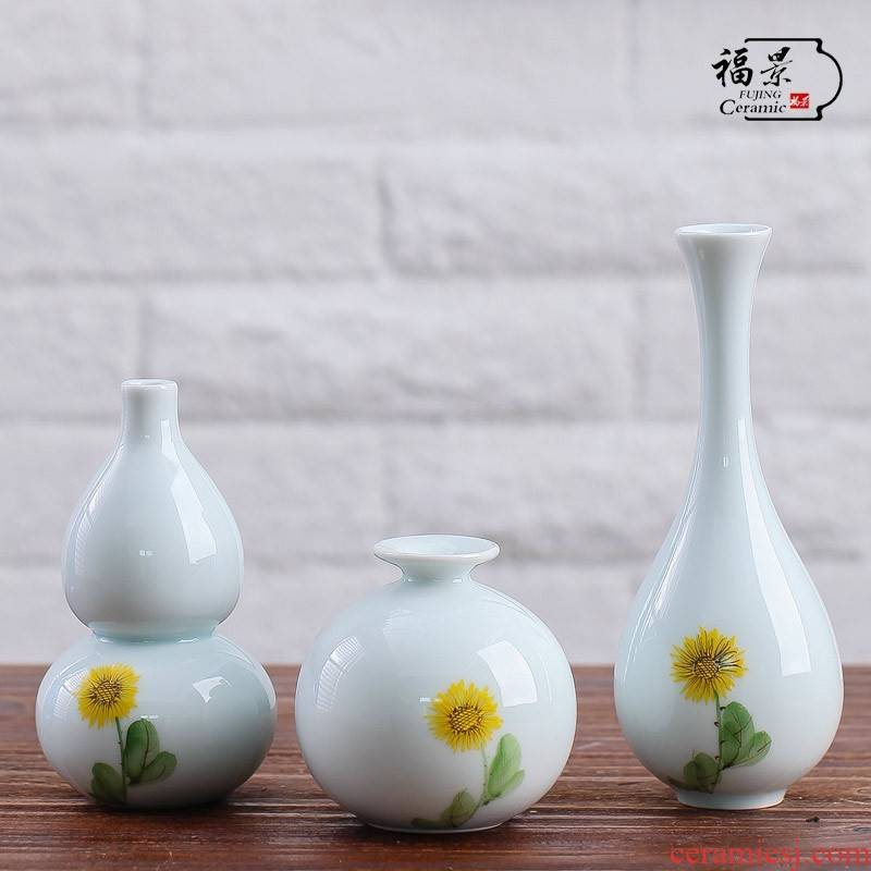 Fu jing hand - made floret bottle ceramic creative porcelain flower vase China hydroponic flowers, arts and crafts