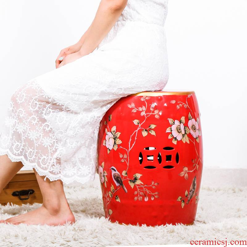 New Chinese style in shoes who with ceramic drum who archaize who pier embroidered pier home sitting room adornment ornament furnishing articles