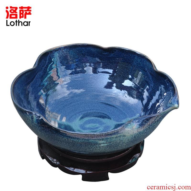 Lothar tortoise lotus the plants in jingdezhen ceramic aquarium goldfish notes tank home feng shui transit cylinder