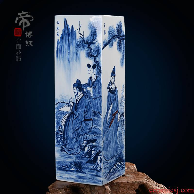 Jingdezhen ceramic hand - drawn characters ceramic vase fashionable classical masterpieces by famous writers home furnishing articles sitting room adornment