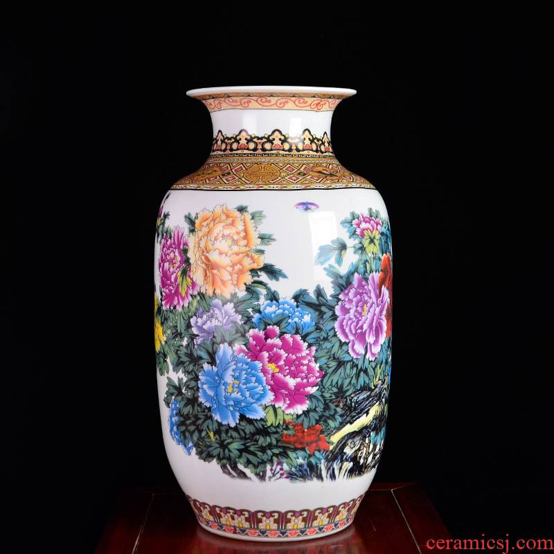 HP - 60 jingdezhen ceramics with a silver spoon in its ehrs expressions using the and household of large vases, flower arrangement sitting room porch decorate furnishing articles