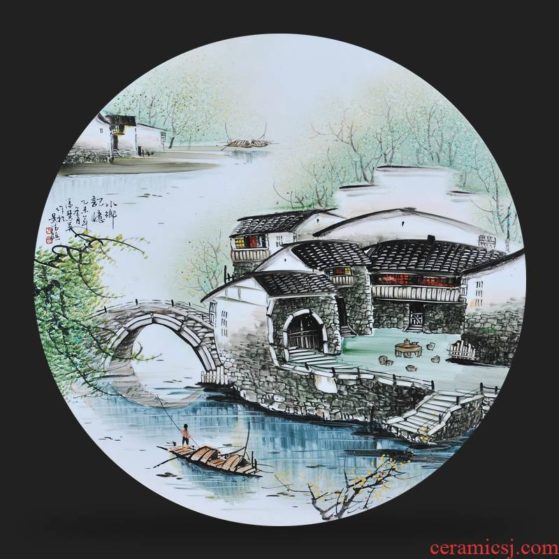 Jingdezhen ceramics Feng Huiying hand - made porcelain plate of the memory painter adornment picture hanging in the sitting room is placed