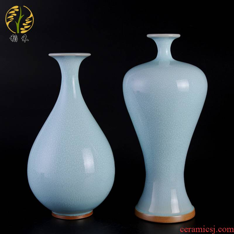 Archaize your up large Chinese style classical contracted ceramic arts and crafts porcelain vases home sitting room adornment is placed