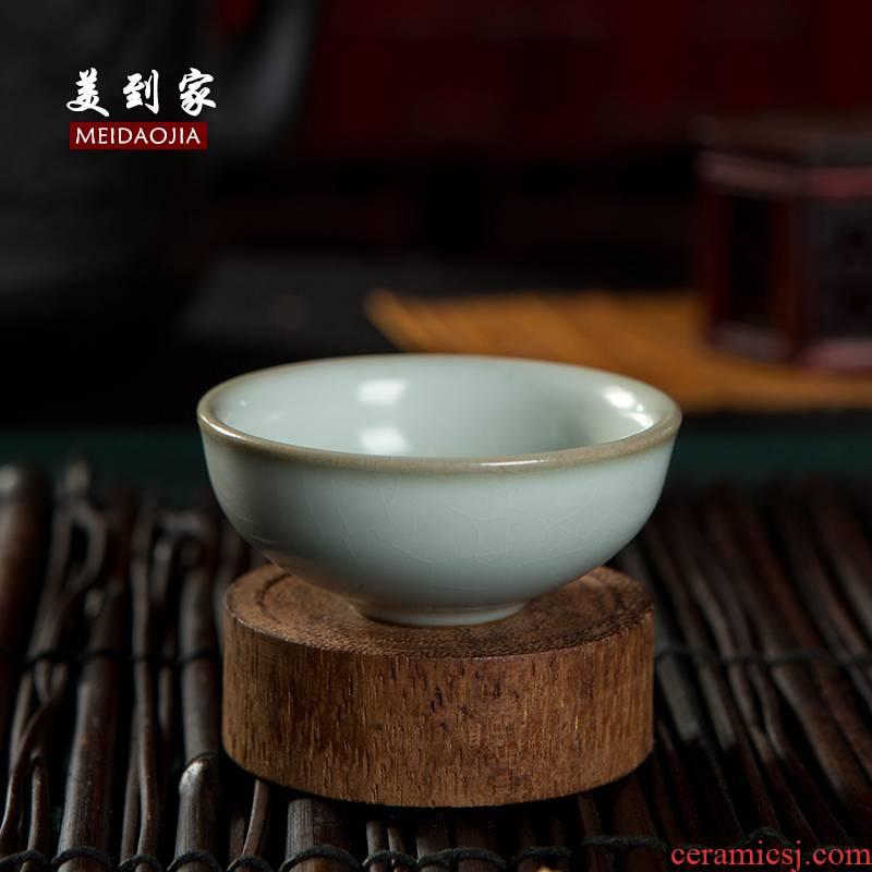 Beautiful home your up kung fu tea cups xiaoping koubei violet arenaceous manual single cup ice crack glaze porcelain tea set