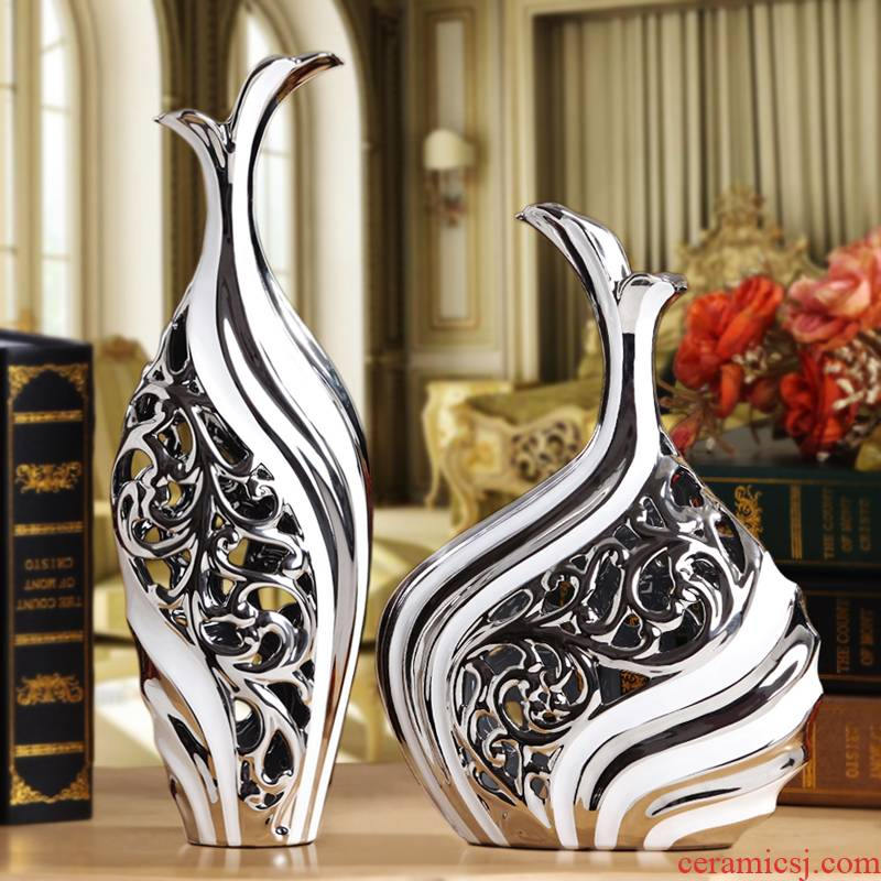 European vase furnishing articles household act the role ofing is tasted ceramic wine sitting room adornment TV ark, contracted and modern decoration process