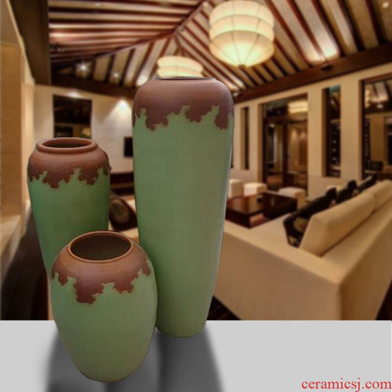 Large vase color glaze up dried flower arranging flowers furnishing articles I and contracted Europe type hotel villa living room