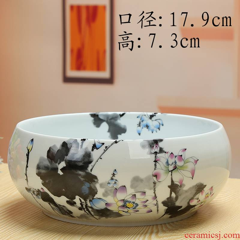 Refers to flower pot without hole copper grass flower POTS bowl lotus basin water lily white hydroponic flower pot meat platter flowerpot more ceramics