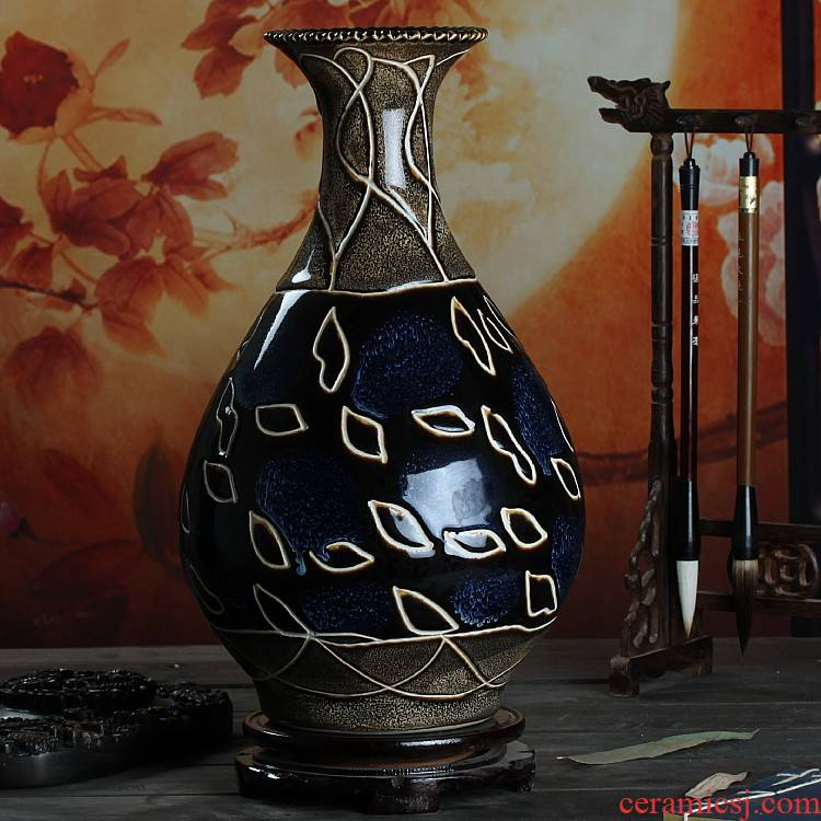 Archaize up line vase jingdezhen ceramic furnishing articles contracted household act the role ofing is tasted of I sitting room hotel arts and crafts
