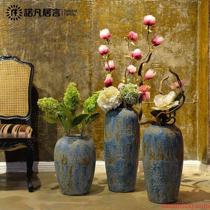 Europe type restoring ancient ways of creative ceramics sitting room of large vase household soft adornment hotel furnishing articles flower arrangement