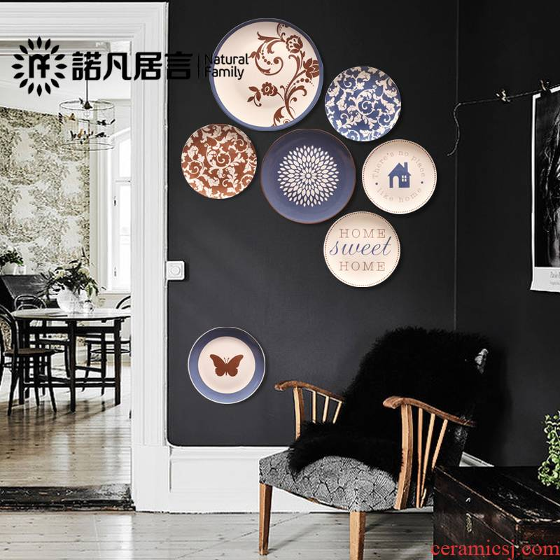 Cano all I and contracted fashion ornament on the wall ceramic plate wall decorations hanging dish wall act the role of background wall plate
