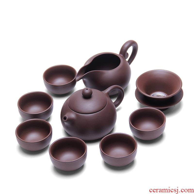 Mingyuan FengTang yixing undressed ore violet arenaceous kung fu tea set classic beauty pot old manual purple clay pot sample tea cup