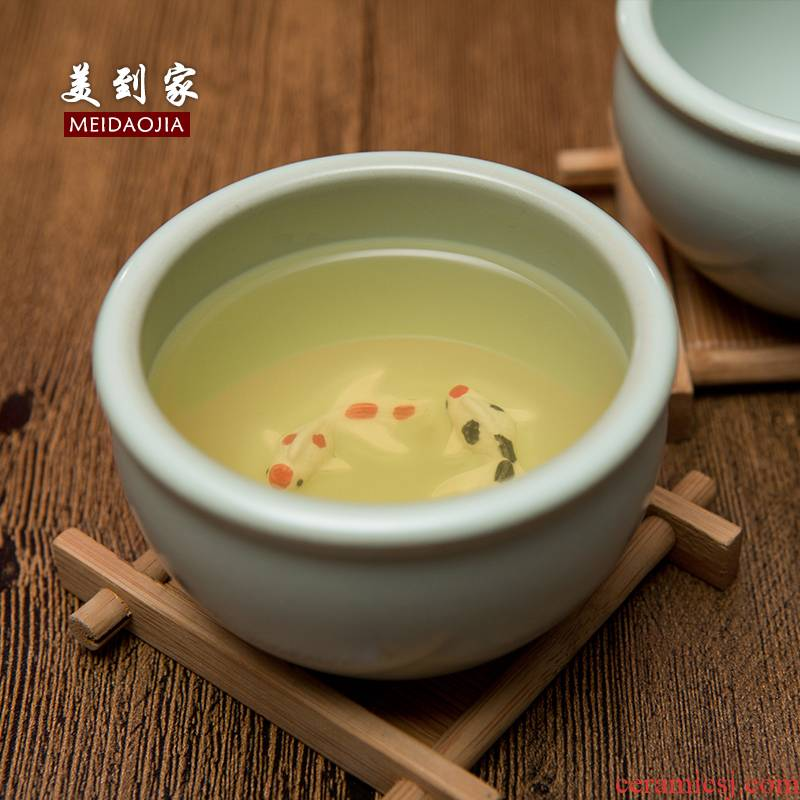 Beautiful home your up ceramic cups kung fu tea tea set purple sand cup BeiBei the master sample tea cup a mermaid