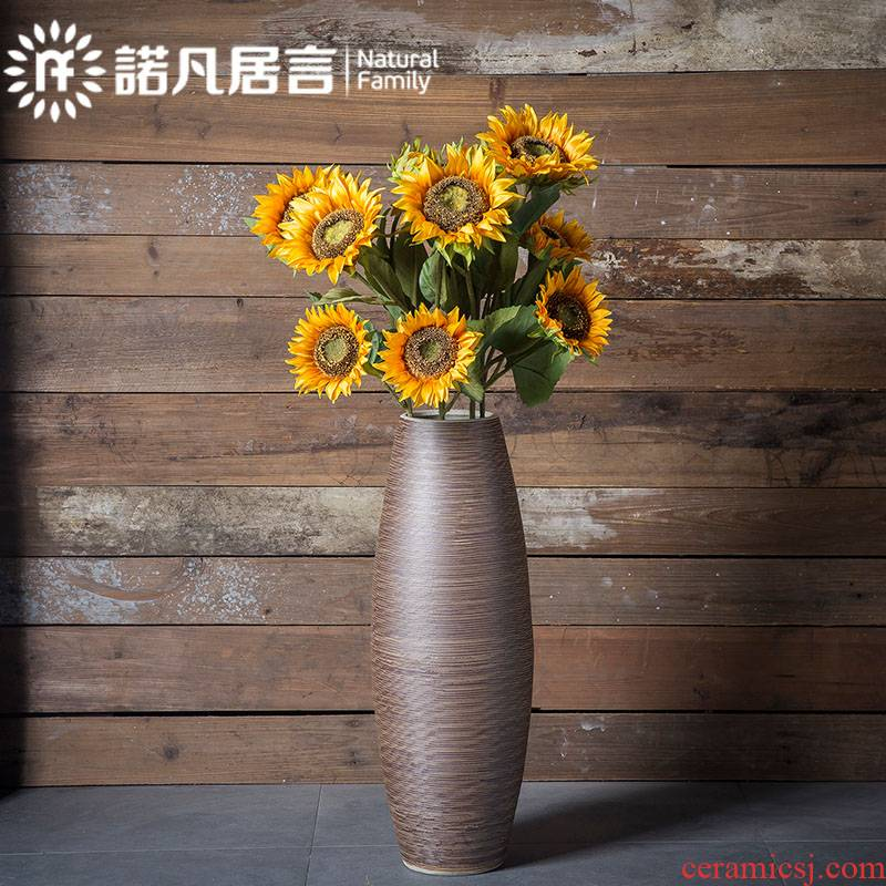 Ceramic floor big sitting room hotel club vase dried flowers furnishing articles contracted and I European creative drawing decoration