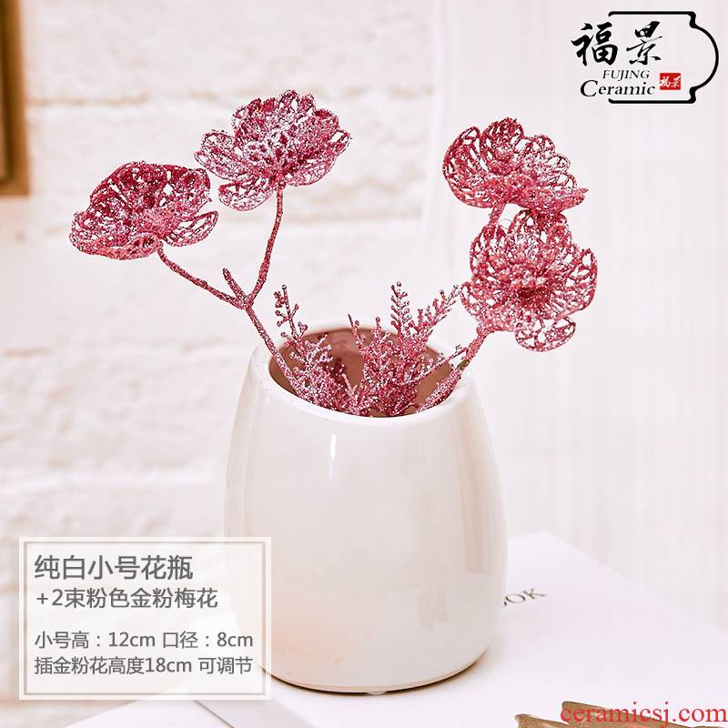 I and contracted land sitting room creative fashion furnishing articles home decoration ceramic dry flower, flower vases, flower art