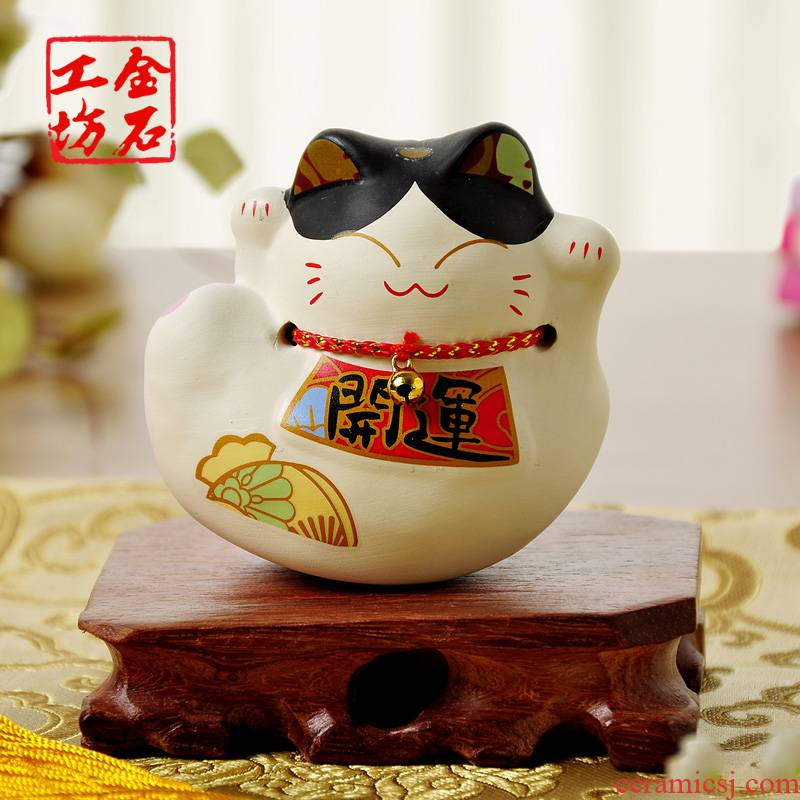 Stone workshop mini small plutus cat furnishing articles desk desk act the role ofing is tasted shake-down cat ceramic express little gift