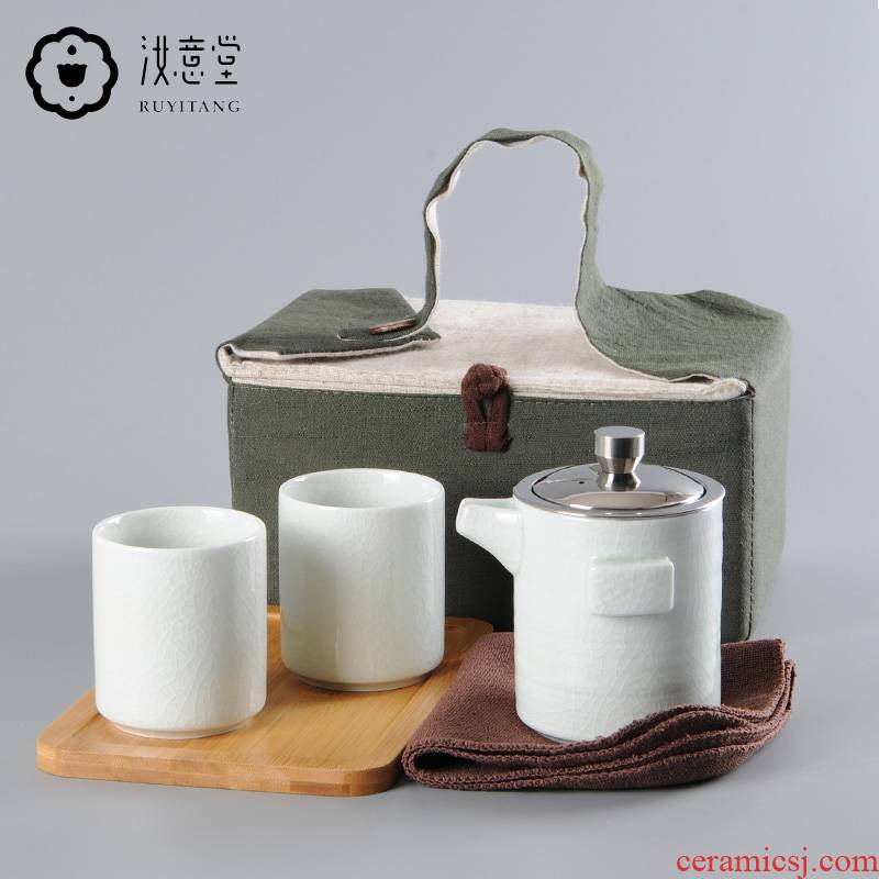 Your up with a pot of two cups of origin kung fu tea set travel portable ceramics slicing can be a home office