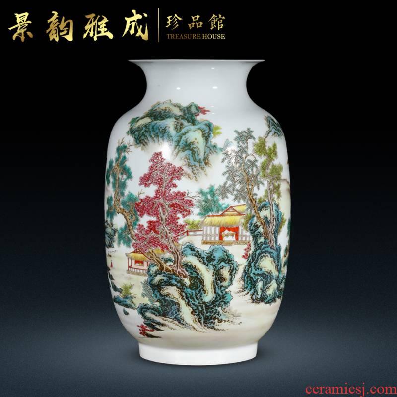 Jingdezhen ceramic Chinese vase sitting room adornment is placed household TV ark, flower arranging porcelain decoration process