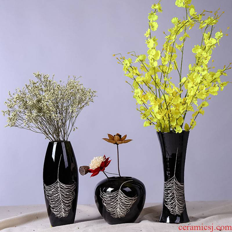 Jingdezhen I and contracted move ceramic household indoor desktop dried flower flower flower implement sitting room adornment art