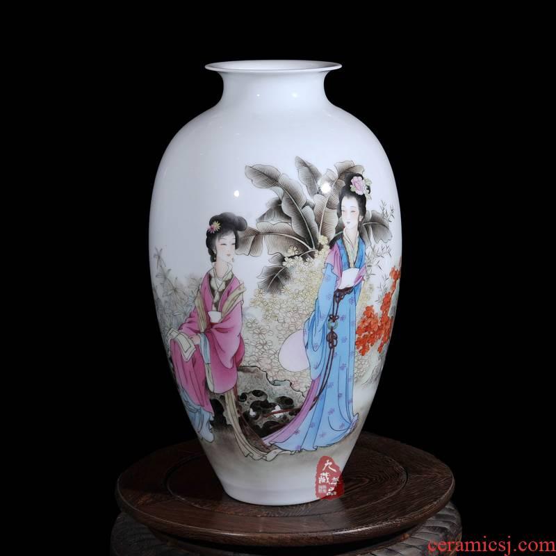Dong - Ming li jingdezhen ceramics powder enamel vase flower austral amorous feelings of modern household crafts are sitting room