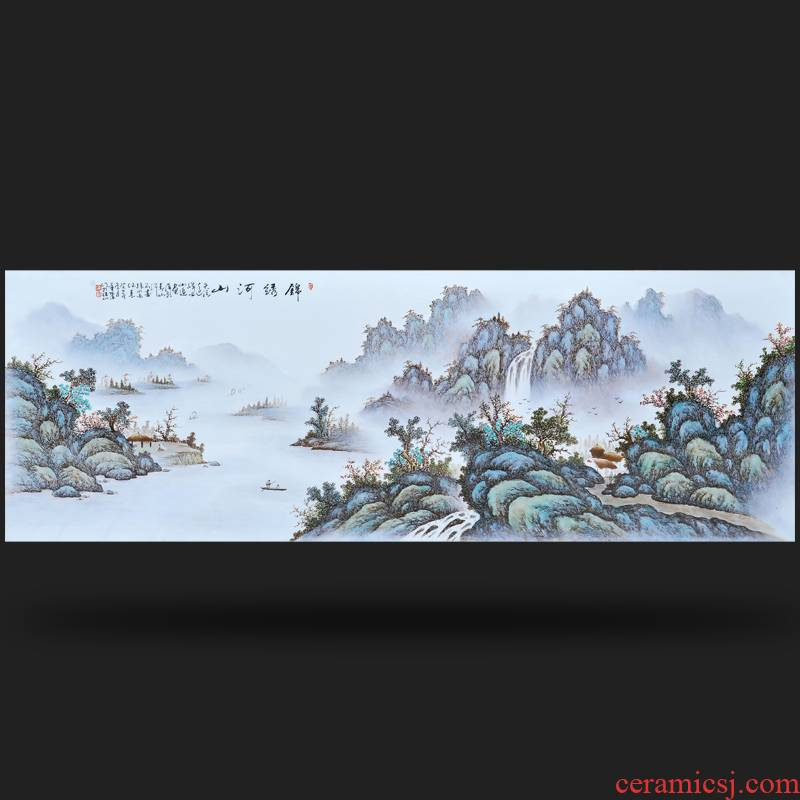 Jingdezhen ceramics giant expeditions Feng Huiying hand - made porcelain plate frame sitting room adornment household furnishing articles
