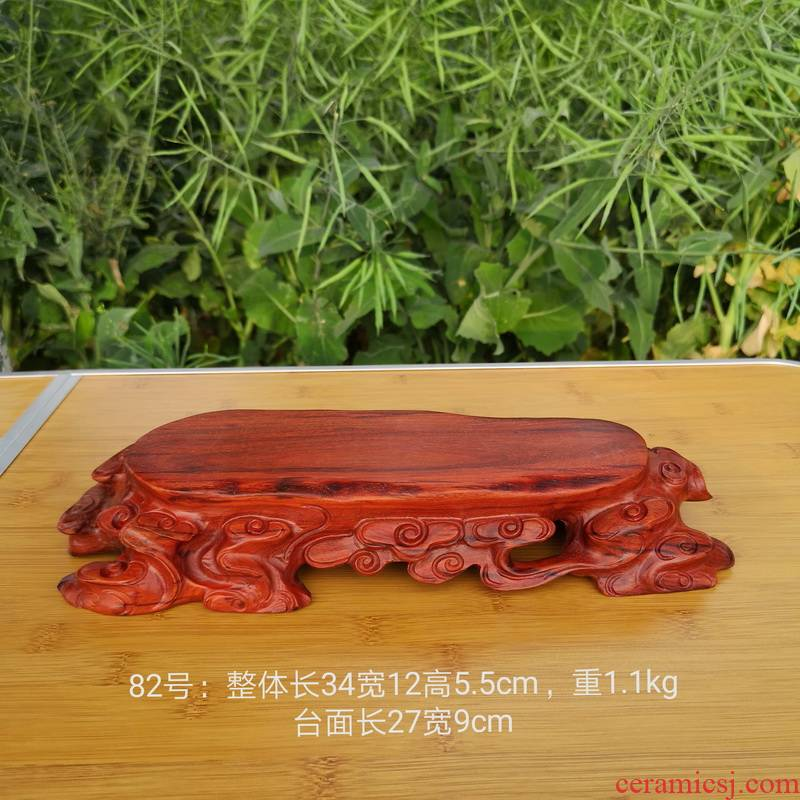 Pianology picking 82 redwood carved base solid wood handicraft furnishing articles base with flowers miniascape base