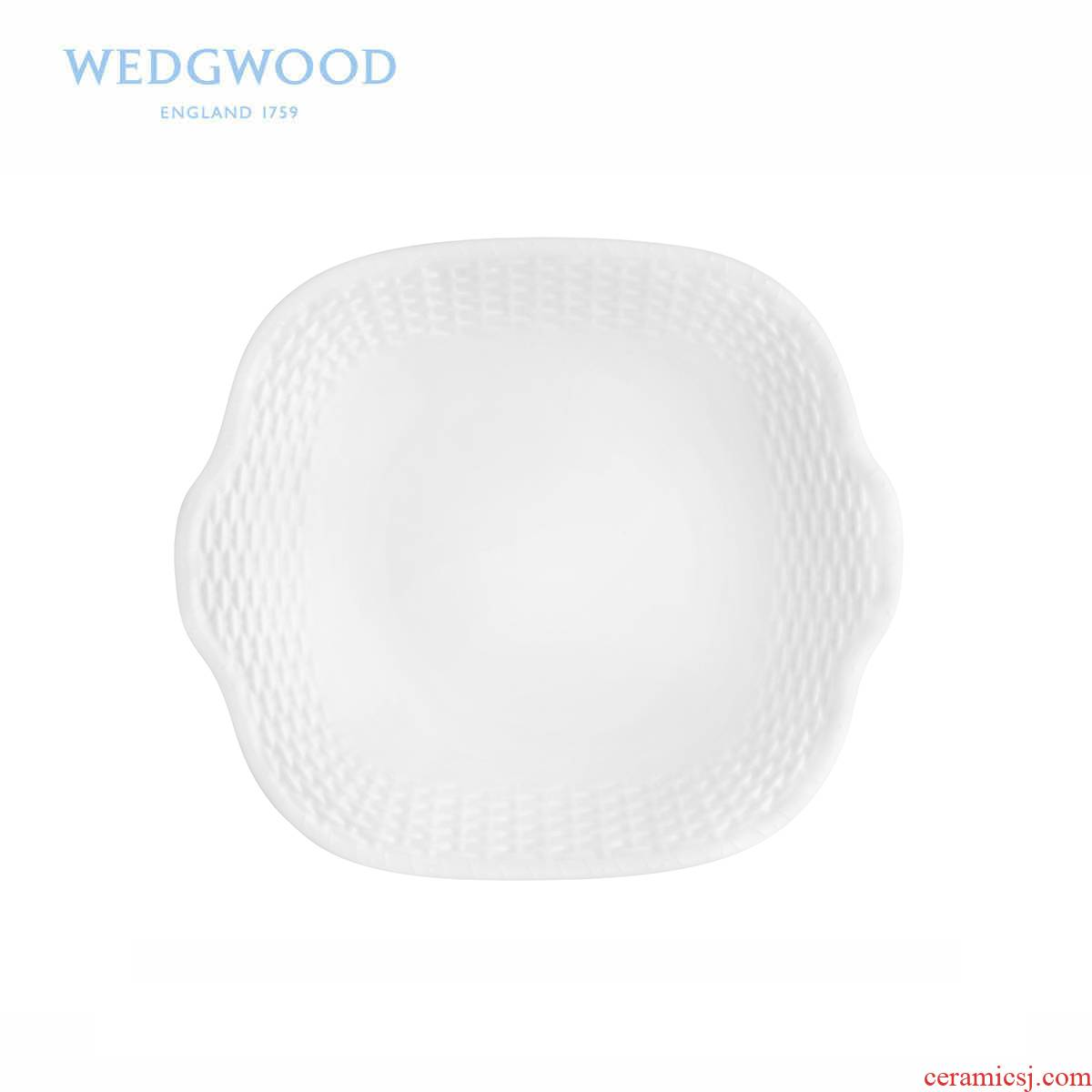 British Wedgwood basket series ipads porcelain of bread plate pure color, big fruit tray/snack plate
