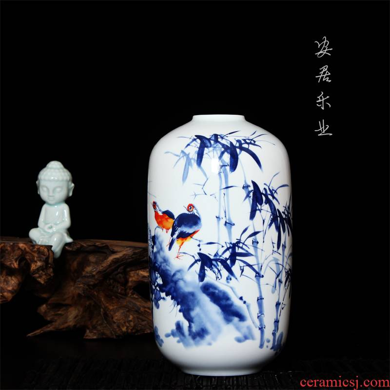 Hc - 083 merry jingdezhen ceramics modern blue and white porcelain vases, flower home decoration decoration furnishing articles