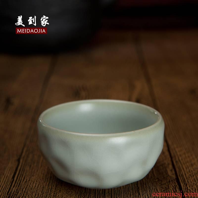Beautiful home manual grape cup your up crack glaze ceramic cups can keep open box tea set