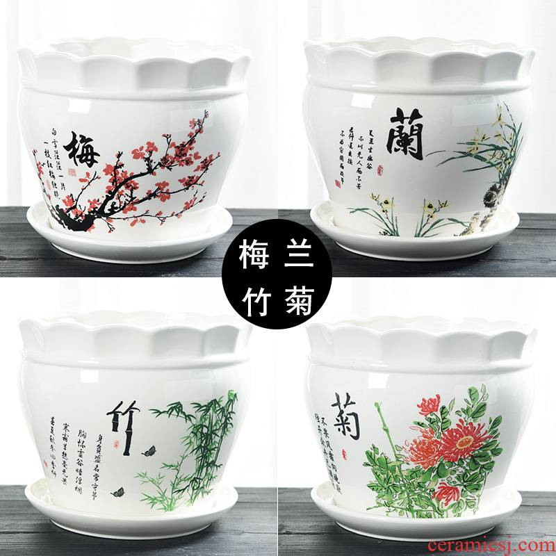Name Plum by basin ceramic with pallet size extra large special offer a clearance creative household more than other meat flowerpot